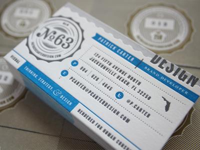 Letterpresss business cards