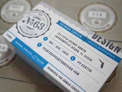 Letterpress Cards print design letterpress pantone seal badge florida branding cards business