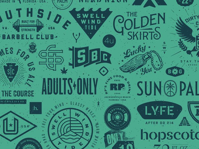 63 Visual 2018 Annual Recap food brand florida badge typography type illustration design identity branding logo