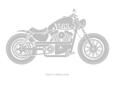 Motorcycle Illustration motorcycle bike illustration sportster harley chopper texture screen