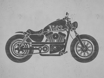 Motorcycle Illustration motorcycle bike illustration sportster harley chopper texture screen
