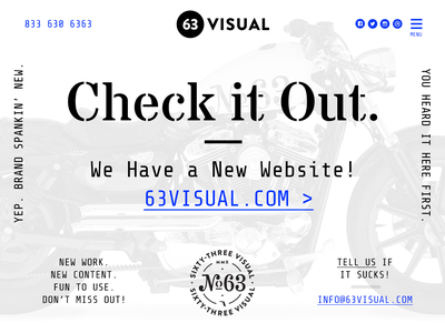 63 Visual Website Launch type identity logo badge typography brand agency studio website ui design branding