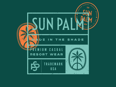 Casual Outdoor Apparel Branding florida badge typography illustration type identity design branding logo