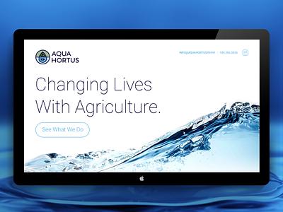 Ecology Website Design aqua website typography identity ux ui