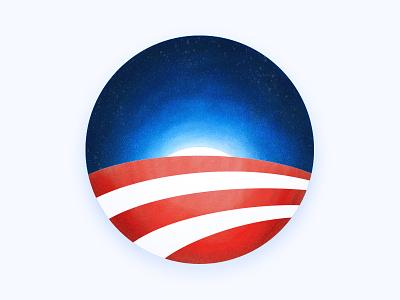 Thanks Obama digital painting illustration again hate america make president 2017 trump obama