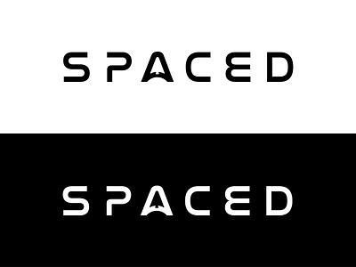 SPACED logo negative space typography spaceship mark design logo illustrator spaced