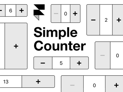 Simple Counter Component for Framer X framer x code component react prototyping framer