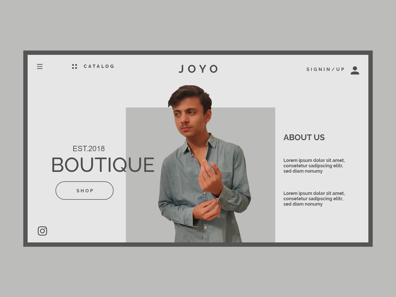Joyo Clothing Shop uiux uidesign ux design web ux ui graphic design design branding