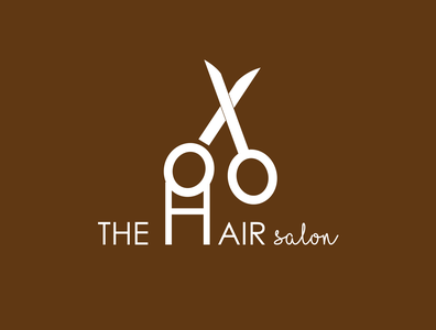 The Hair Salon Logo icon vector adobe illustrator typography illustration minimal graphic design design logo branding