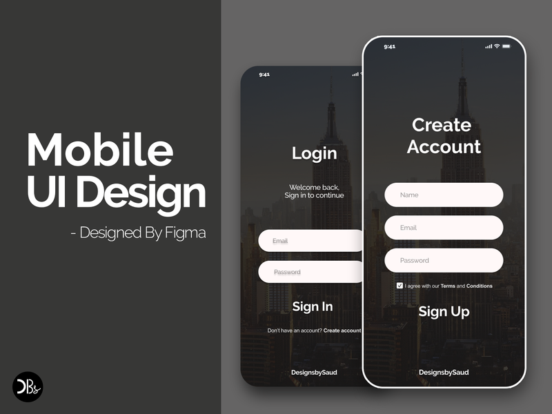 Login / Sign Up UI Design uiux mobile ui mobile ux design adobe photoshop uidesign minimal figma figmadesign app design ux ui graphic design branding