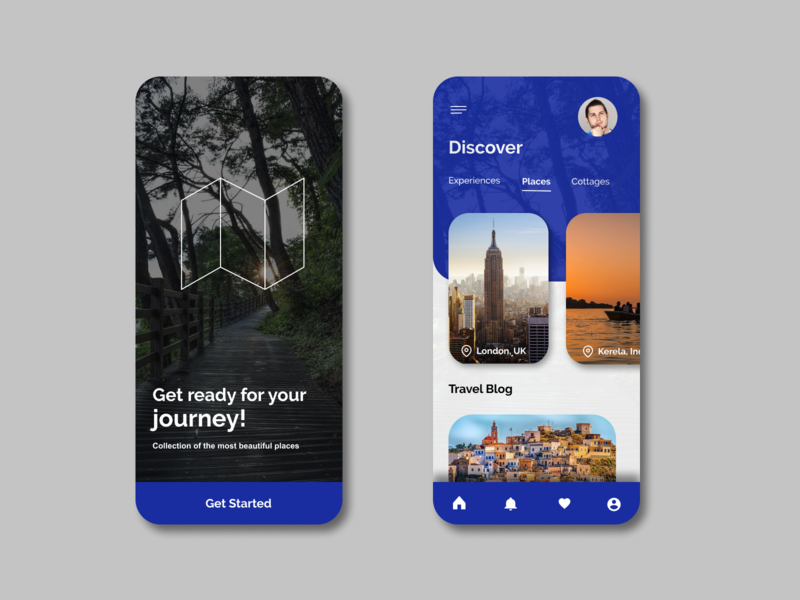 Travel Design UI minimal ui ux color travel app figma ux design app typography ux ui design branding