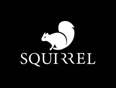 Squirrel Logo Design squirrel logo icon typography vector adobe illustrator illustration minimal graphic design design branding logo
