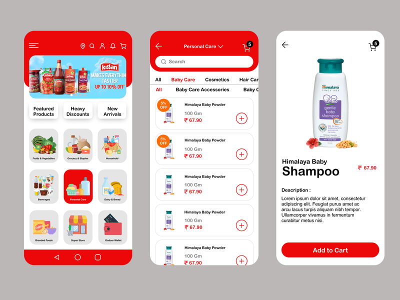 Grocery Shopping App UI Design shopping app grocery app design mobile ui design ux design figma adobe illustrator illustration app ux ui branding