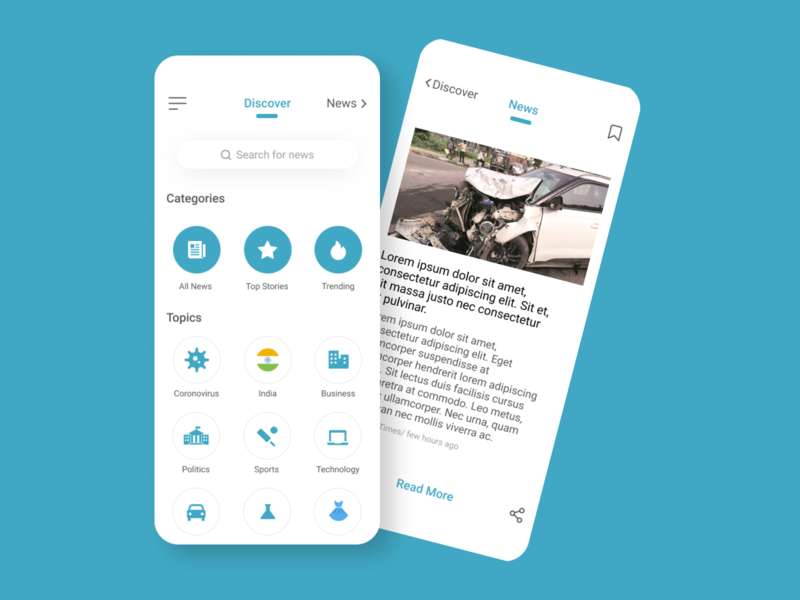 News App UI Design minimal simple design product design indian mobile app concept news news app uiux ui design mobile design mobile figmadesign figma design app ux ui ux design branding