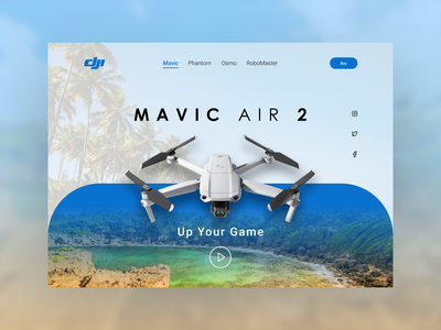 DJI Mavic Air 2 Landing Page modern landing graphic design illustrations webdesign mavic drone colors behance dribble landingpage website typography uiux uidesign ux design ux ui design