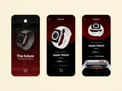 Apple Watch Series 6 App modern clean illustrations dribbble best shot trending ios app android app technology uiux apple watch mobile app typography figma uidesign ux design ux ui branding design