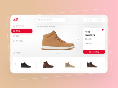 H&M Fashion Store Web App Concept uiux behance dashboard clothing shoes store web application graphic design uidesign app figma dribbble fashion web app webdesign minimal ux ux design ui design