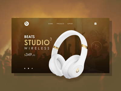 Beats by Dre Headphones Landing Page dribbble best shot music landing page design website design behance dribbble headphones web design landingpage typography beats by dre beats uiux figma uidesign graphic design ux design ux ui design