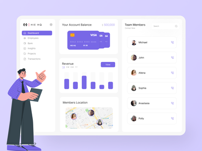 Team Management Web App Concept illustration color behance employees team management dribbble best shot dribbble uidesign webapp webdesign app uiux figma ux design minimal design ux ui