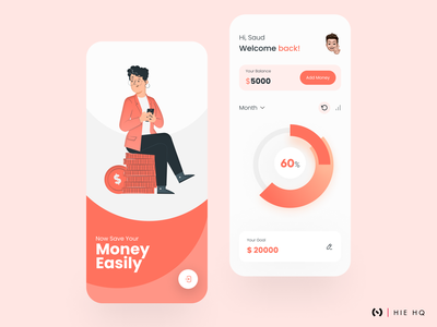 Money Saving App color palette ios app android app fintech app dribbble money app save money fintech mobile dribbble best shot figma uiux uidesign ux design minimal design ux ui