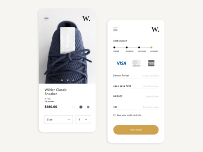Mobile Checkout Design Concept