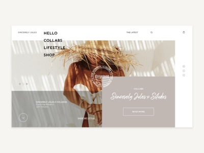 Sincerely Jules Blog Design Concept