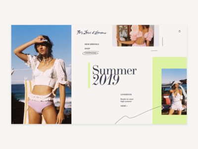 For Love & Lemons Lookbook Page Design Concept