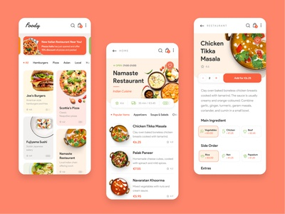 Food Delivery App delivery app food and drink meal indian pizza food app delivery food app ui
