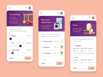 Carbon Footprint App Concept