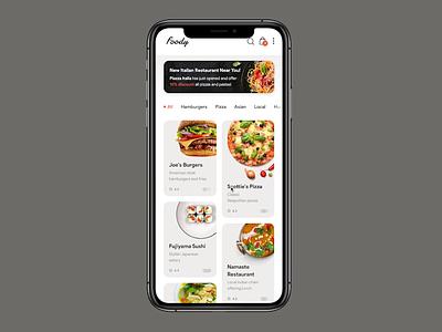 Foody App Prototype foodapp prototyping figma prototypes product design delivery food interactive animation prototype app ui