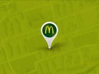 McDonalds Map Pin
