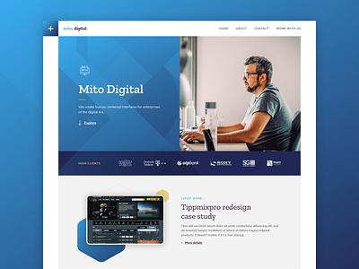 Mito Digital branding website design digital sneakpeak clients ux ui mito digital mito webdesign design web