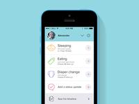 Baby Pamper - tracker iOS app