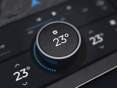 Electric Car Dashboard screen tablet interior electric interface knob touchscreen car dashboard automotive ui