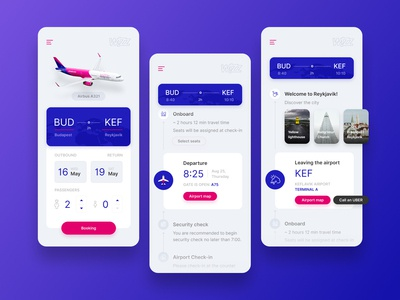 WIZZ App Concept aviation airways booking airplane flight concept wizz mobile ui app