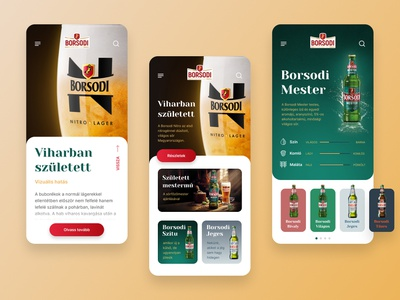 Borsodi mobile web uidesign borsodi beer brewery mobile ui