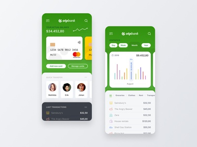 OTP Bank App expensetracker expense banking app money bank otp design ios mobile app ui