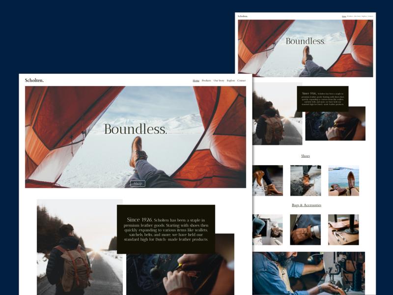Scholten Leatherwork | Landing Page