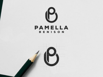 PB MONOGRAM LOGO FOR PAMELLA BENISON