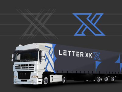 XK MONOGRAM LOGO CONCEPT brand identity monoline monogram logo monogram logo initial logo initial grid design corporate