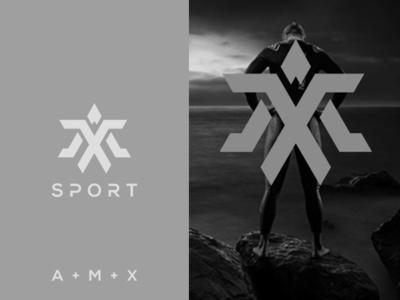 amx sport brand identity monoline monogram logo monogram logo initial logo initial grid design corporate