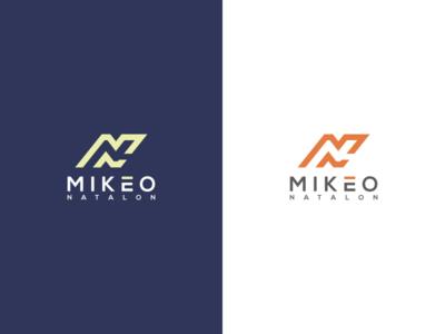 MIKEO NATALON brand identity monoline monogram logo monogram logo initial logo initial grid design corporate