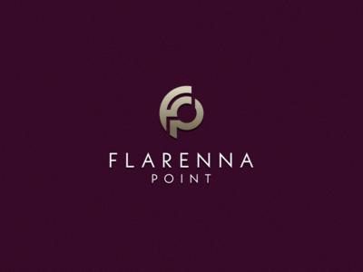 FLARENNA POINT luxury brand identity monoline monogram logo monogram logo initial logo initial grid design corporate