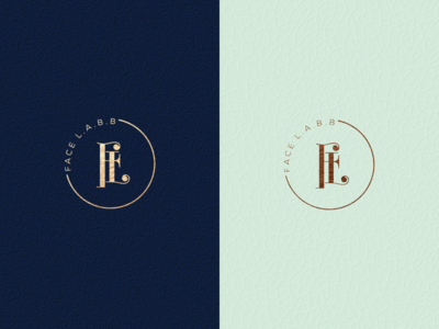 LOGO CONCEPT FOR FACE LABB luxury brand identity monoline monogram logo monogram logo initial logo initial grid design corporate