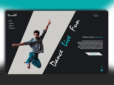 Dance All uidesign academy agency webdesign landingpage ux ui dance