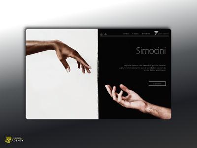 Art Gallery Simocini typography design website ui branding illustration web design