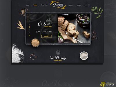 The Bakery digital ui ux web design bakery