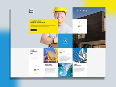 The Construction ui ux website web design business