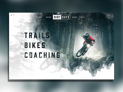 The Mountain ui ux website sport bikes mountain