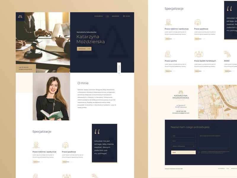 LAWYER WEBSITE minimal logo typography design designer landing web flat ui colors